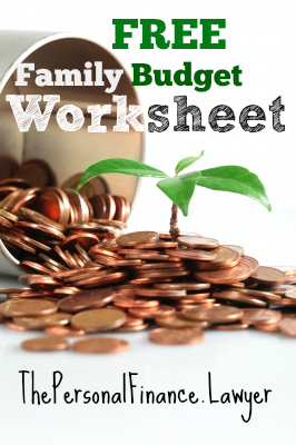 Free printable budget template that you can customize for your family.